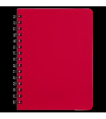 Блокнот А6 60арк клітинка Bright, бічна спіраль червоний, Buromax