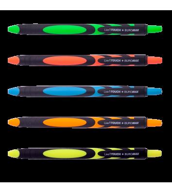 Ручка масляная автоматическая Live Touch, цвет чернил синий 0,7мм, Buromax