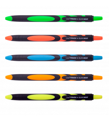 Ручка масляна автоматична Live Touch, колір чорнил синій 0,7мм, Buromax