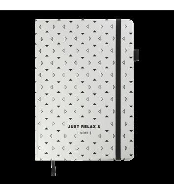 Діловий записник клітинка А5 Relax сріблястий, Buromax