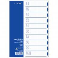 Разделители листов А4 10 разделов пластиковые цветные, Economix