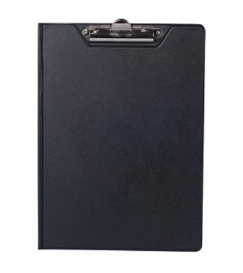 Планшет-папка А4 с прижимом PVC черный, Buromax
