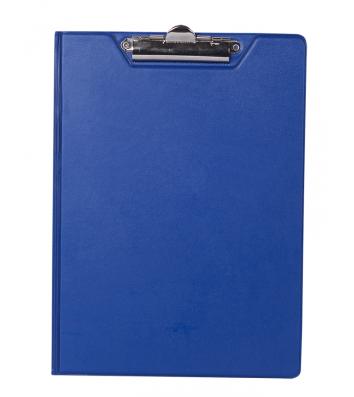 Планшет-папка А4 с прижимом PVC темно-синий, Buromax