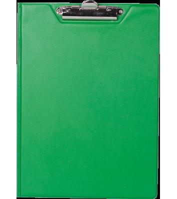Планшет-папка А4 с прижимом PVC зеленый, Buromax