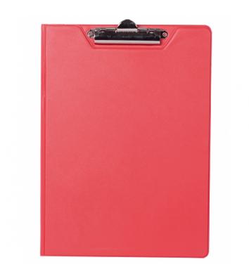 Планшет-папка А4 с прижимом PVC красный, Buromax