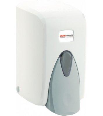 Дозатор для рідкого мила пластиковий біло-сірий 0,5л. S5 PRO Service Professional