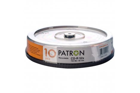 Диск CD-R 700mb 52x, Patron 10шт
