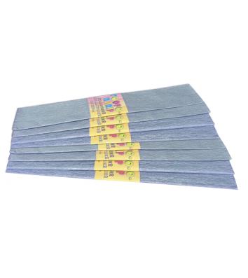 Бумага гофрированная перламутровая голубая 50*200см