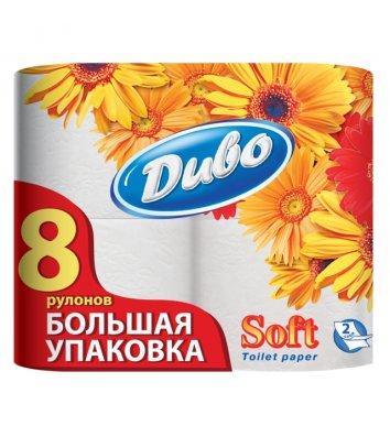 Папір туалетний двошаровий 8рул/уп Диво Soft целюлозний, білий
