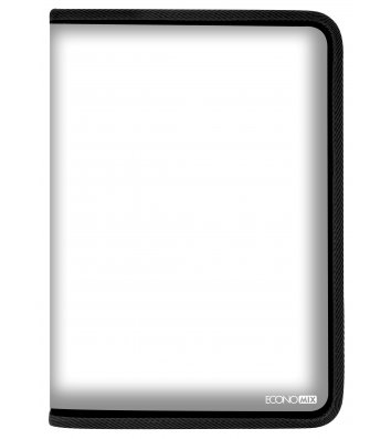 Папка A4 пластиковая прозрачная с черной молнией, Economix