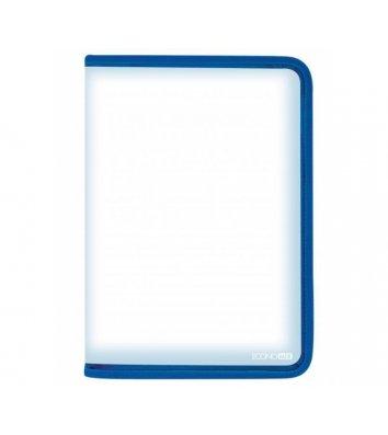 Папка А4 пластикова на блискавці блакитна, Economix