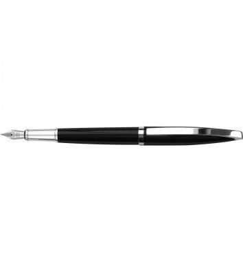 Ручка перова Monaсo, колір корпусу чорно-сріблястий, Cabinet