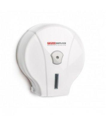 Держатель для туалетной бумаги Джамбо пластиковый белый PRO Service