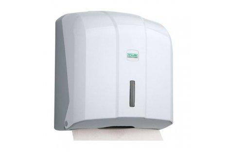 Держатель для бумажных полотенец Z и V сложения пластиковый белый Solaris