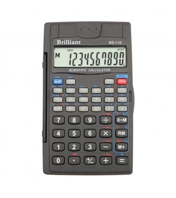 Калькулятор инженерный 8+2 разрядов 72*120*12мм, Brilliant