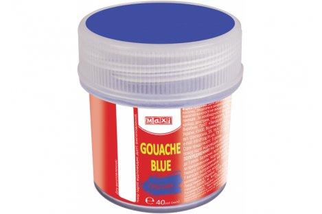 Краска гуашевая 40мл синяя, Maxi