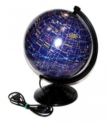 Глобус d26см Зоряне небо з підсвічуванням