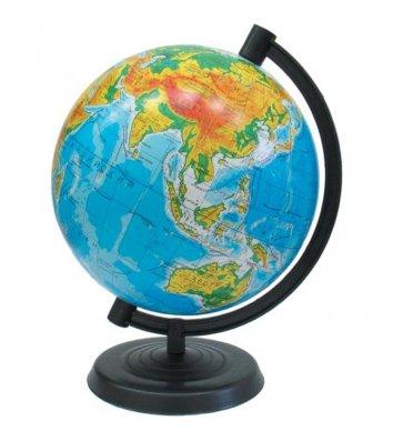 Глобус d32см Физически-политический с двойной картой с подсветкой