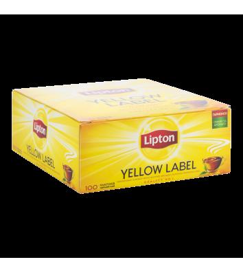 """Чай черный Lipton """"Yellow Label"""" в пакетиках 100 шт"""