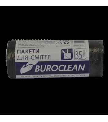 Пакет для мусора 35л/30шт 50*55см черный, Buroclean