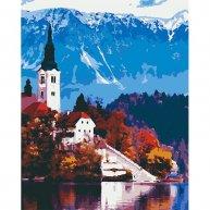 """Картина по номерам """"Австрійський пейзаж"""" 40*50см, Riverа Blanca"""
