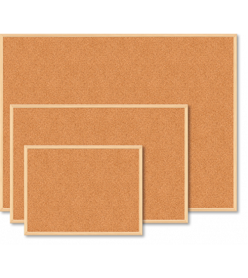 Доска пробковая 45*60см, рамка деревянная, Buromax
