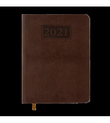 Ежедневник датированный A5 2021 Amazonia коричневый, Buromax