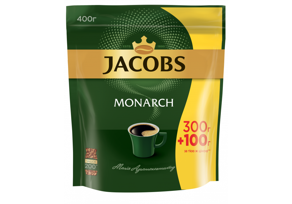 Кофе Якобс Монарх раств. 400г