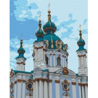 "Картина по номерам ""Андріївська Церква"" 40*50см, Riverа Blanca"