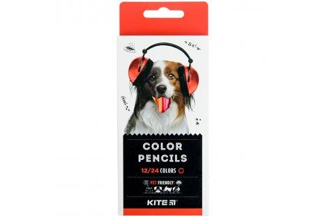 """Олівці кольорові 12шт 24 кольори тригранні """"Dual Jumbo Extra Soft"""", Coool for School"""