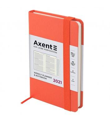 Щотижневик датований 2021 Pocket Strong 90*150мм персиковий, Axent