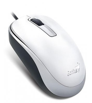 Миша комп'ютерна дротова біла, Genius DX-125 USB White
