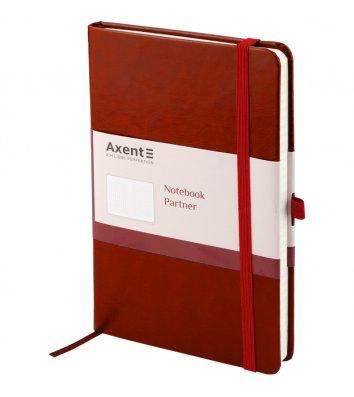 Діловий записник А5 96арк клітинка Partner Lux червоний, Axent