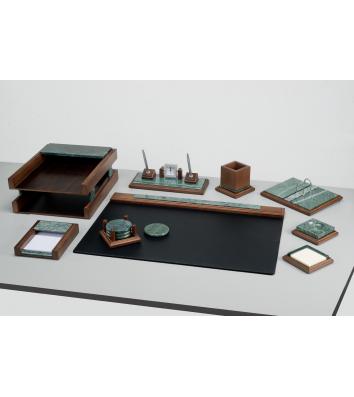 Набір настільний  9 предметів з натур. дерева і мармуру, Bestar