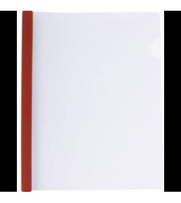 Папка А4 пластикова з планкою-притиском 2-35арк червона, Economix