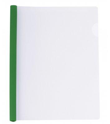 Папка А4 пластикова з планкою 10мм зелена, Economix