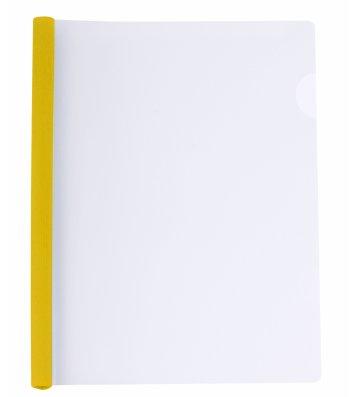Папка А4 пластикова з планкою-притиском 2-65арк жовта, Economix