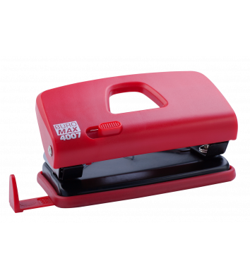 Діркопробивач  10арк корпус пластиковий колір червоний, Buromax