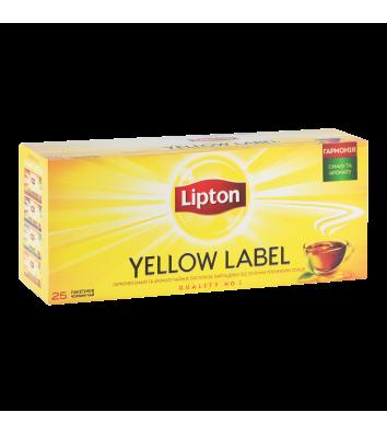 """Чай чорний Lipton """"Yellow Lable"""" в пакетиках 25шт"""