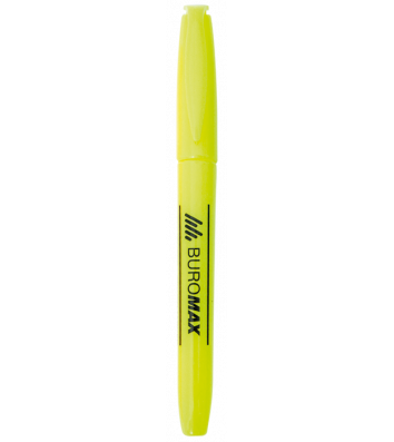 Маркер текстовий, колір чорнил жовтий 2-4мм, Buromax