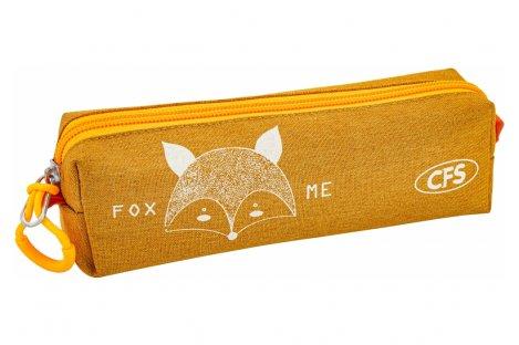 """Пенал твердый 1 отделение на молнии """"Foxy"""", Cool for School"""