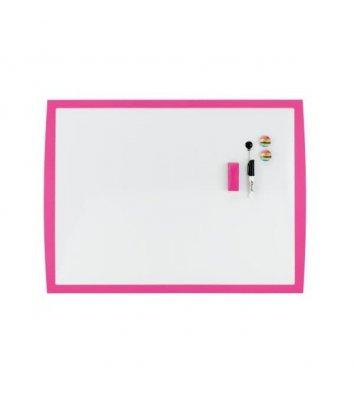 Дошка магнітно-маркерна  43*58,5мм, біла з рожевою рамкою, Rexel