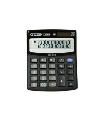 Калькулятор 12 розрядів 100*125*34мм, Citizen