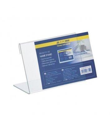Табличка односторонняя прозрачная 90*60мм, Buromax