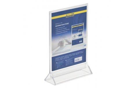 Табличка двостороння прозора 150*200мм, Buromax