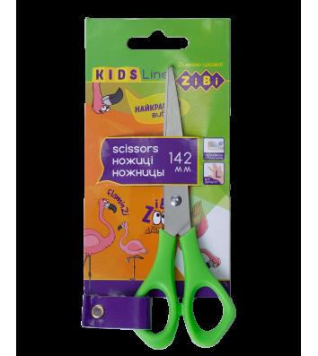 Ножницы детские 14,2 см для левши ручки пластиковые салатовые, Zibi