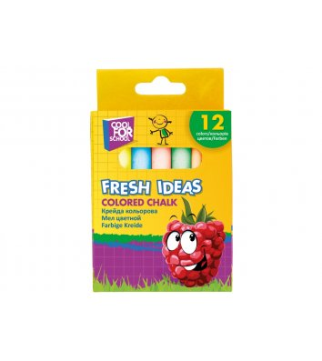 "Мел цветной 12шт ""Fresh Ideas"", Cool for School"