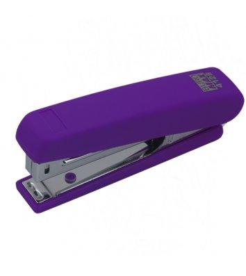Степлер 12л скобы 10 пластиковый корпус фиолетовый Rubber Touch, Buromax