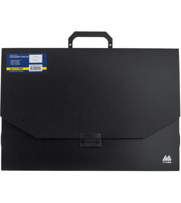 Портфель А3 пластиковый 32мм Professional черный, Buromax
