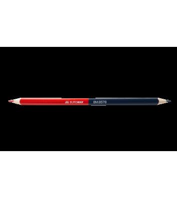 Олівець графітний HB червоно-синій, Buromax